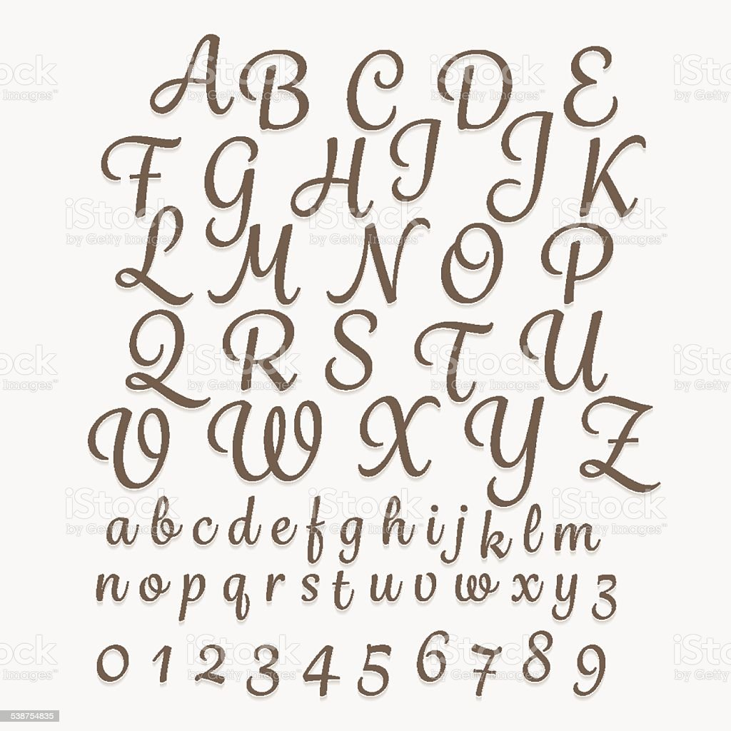 Alphabet_Master_Type vector art illustration