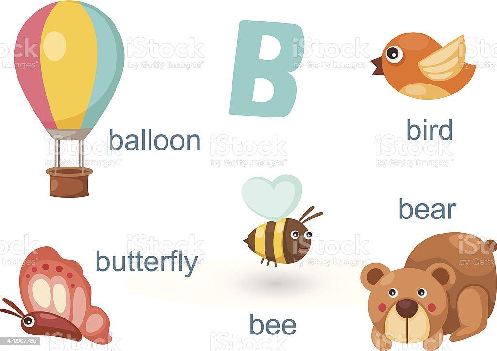 Alphabet Letter B Bee Bear Balloon Bird Butterfly Clipart The Arts ...