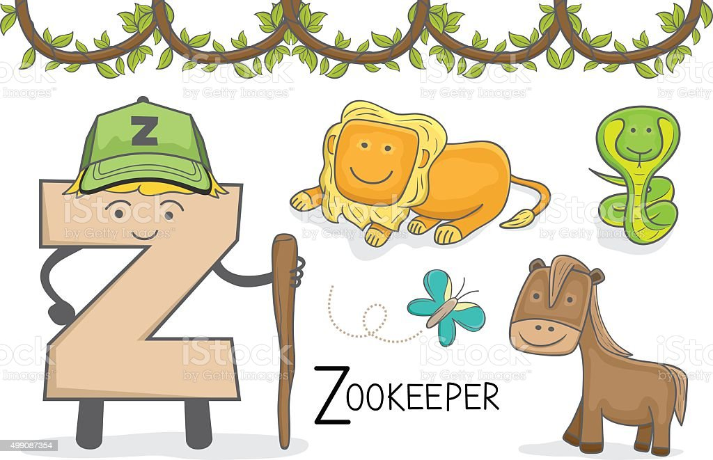 Alphabeth occupation letter z zookeeper stock vector art more alphabeth occupation letter z zookeeper royalty free alphabeth occupation letter z zookeeper stock spiritdancerdesigns Images