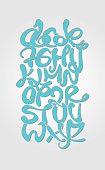 Alphabetic composition graffiti style