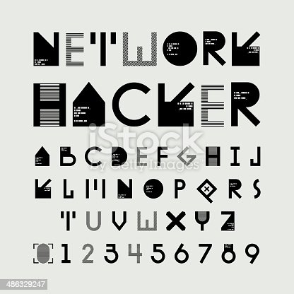 istock alphabetic fonts and numbers 486329247