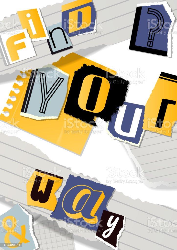 Vetores De Bandeira Alfabética Da Colagem Ilustração Do
