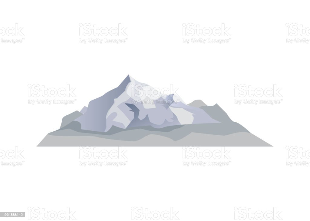 Alpine mountain isolated vector icon royalty-free alpine mountain isolated vector icon stock vector art & more images of adventure