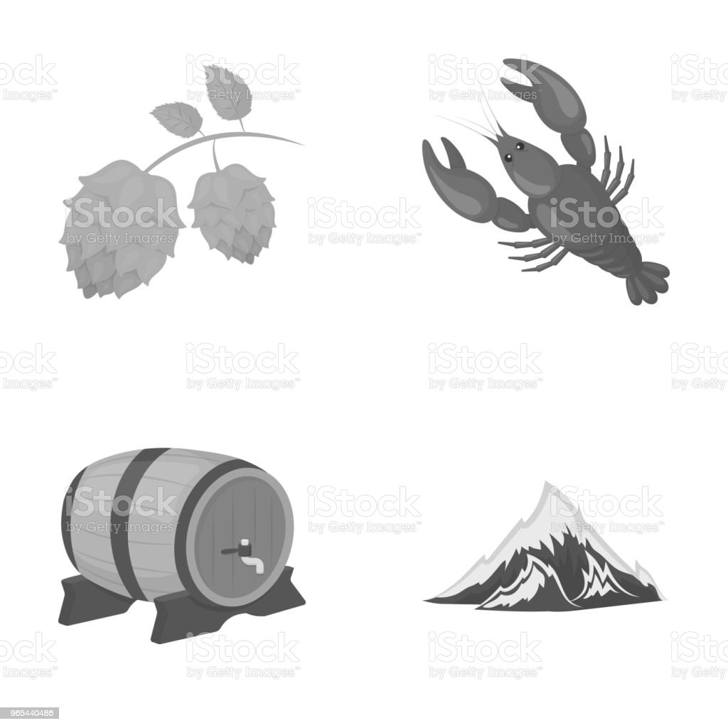 Alps, a barrel of beer, lobster, hops. Oktoberfestset collection icons in outline style vector symbol stock illustration web. royalty-free alps a barrel of beer lobster hops oktoberfestset collection icons in outline style vector symbol stock illustration web stock vector art & more images of bavaria