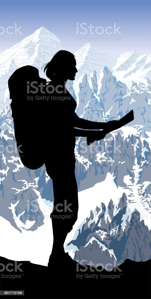 Alps Mountain Landscape At Europe Switzerland And Girl With ...