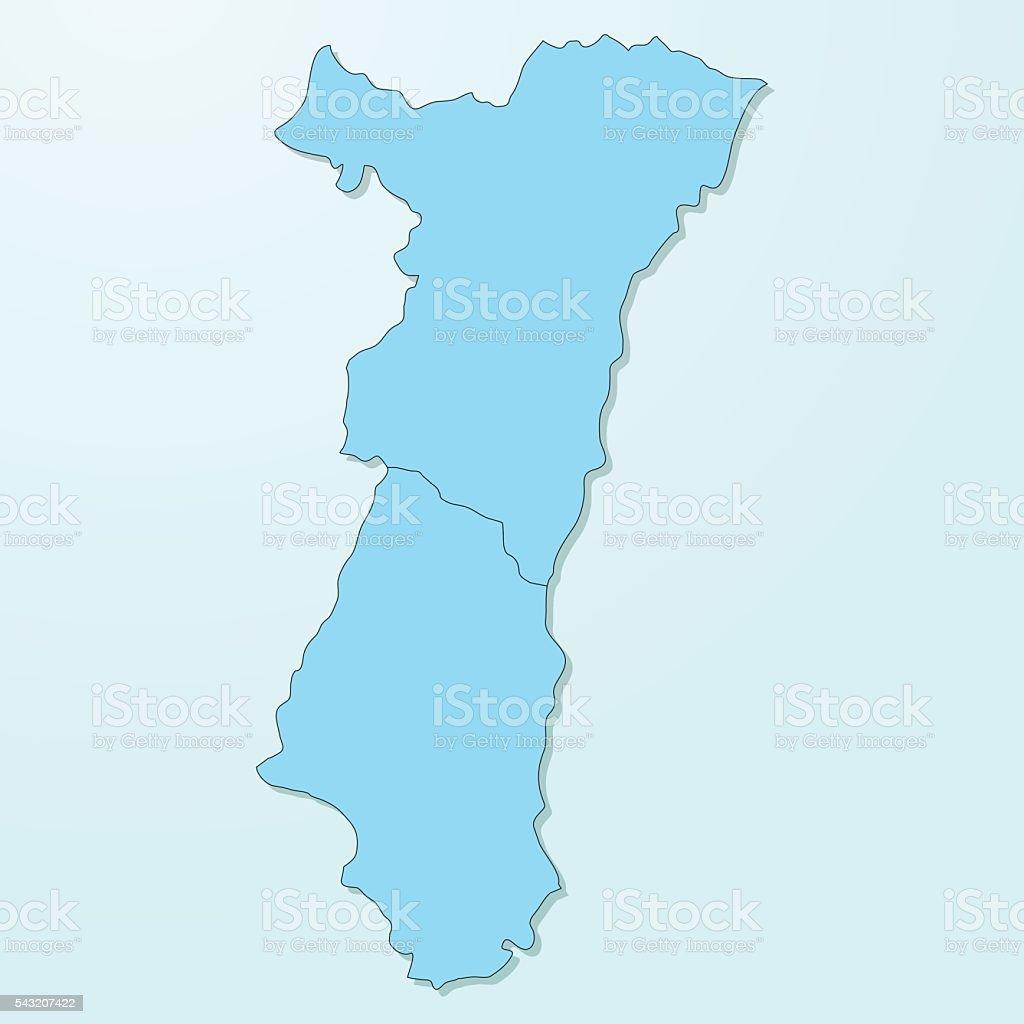 Elsass Auf Karte.Elsass Blau Karte Zu Forschungsmaterial Degradiert Hintergrund