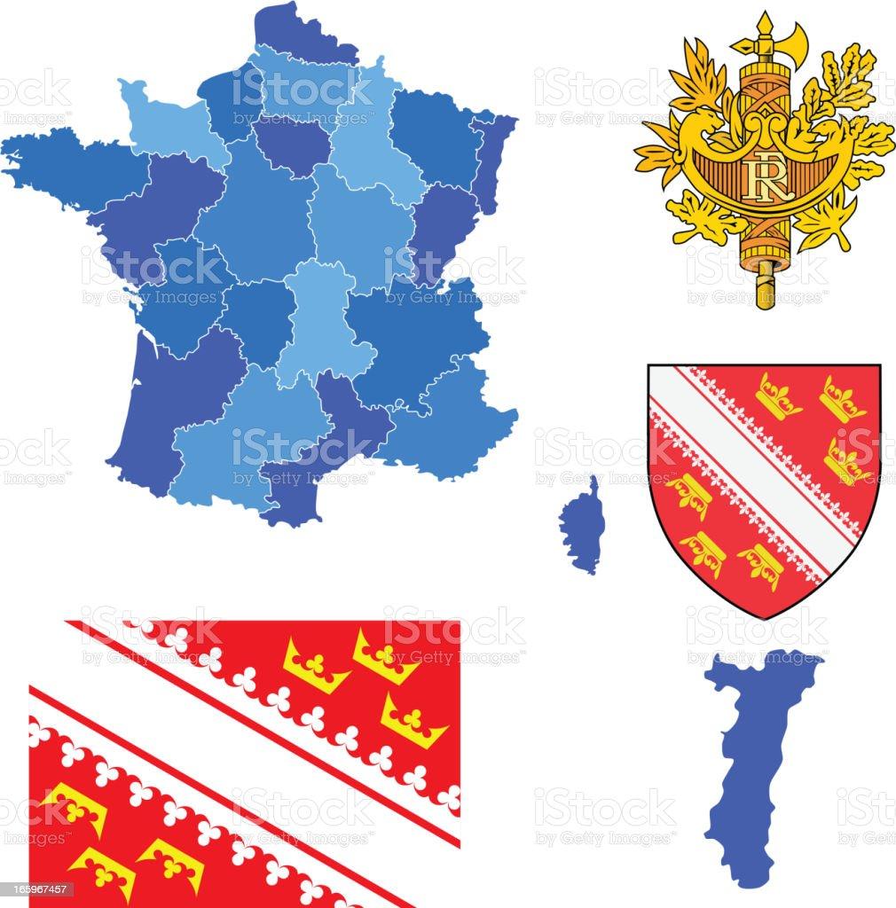 Alsace reion ensemble - Illustration vectorielle