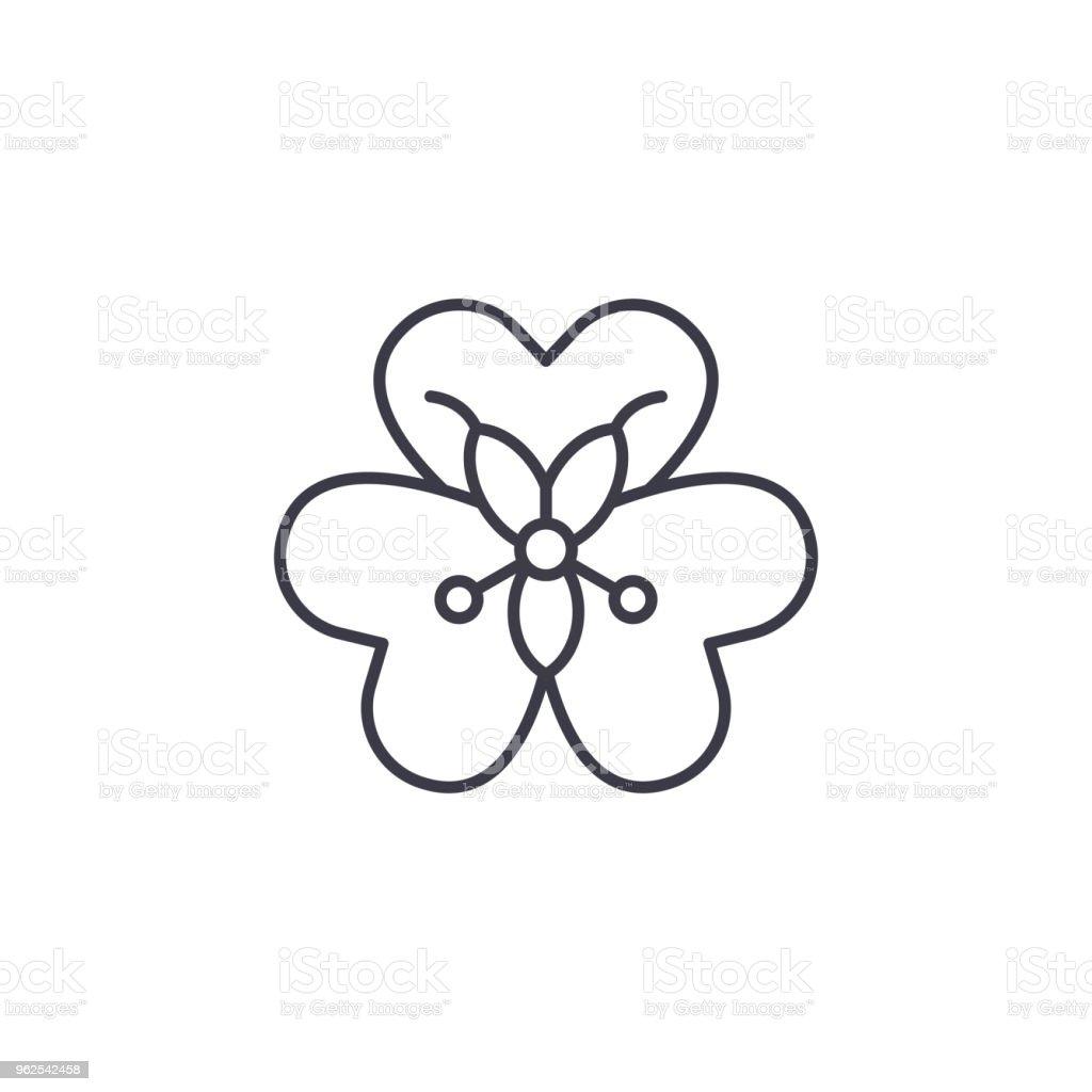 Alstroemeria flower line icon concept. Alstroemeria flower flat vector sign, symbol, illustration. - Royalty-free Alstroemeria stock vector