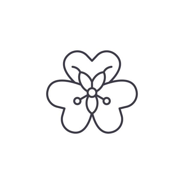 alstroemeria blume symbol anlagenkonzept. alstroemeria blume flache vektor zeichen, symbol, illustration. - inkalilie stock-grafiken, -clipart, -cartoons und -symbole