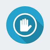 Alt gesture concept icon