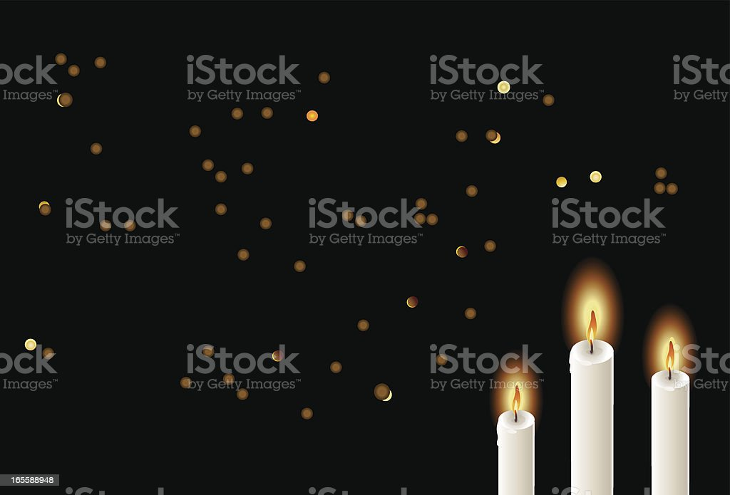 altar candles royalty-free stock vector art