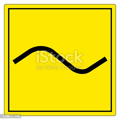 Alternating Current AC Symbol Sign Isolate On White Background,Vector Illustration EPS.10