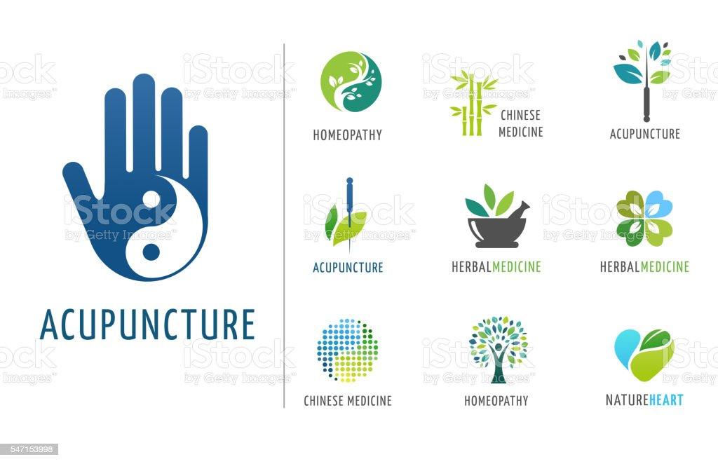 Alternative, Chinese medicine and wellness, yoga, zen concept vector art illustration