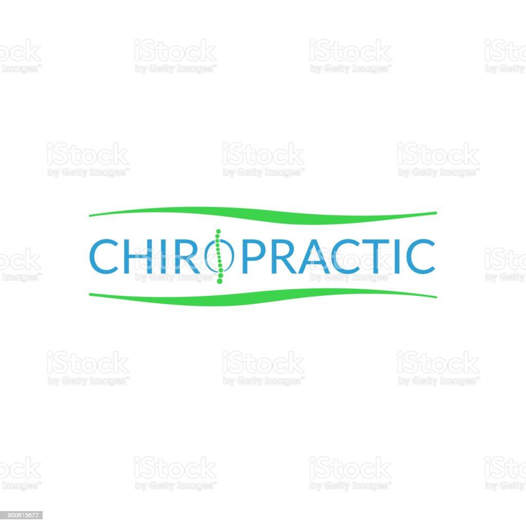 Alternative chiropractic medicine logo vector art illustration