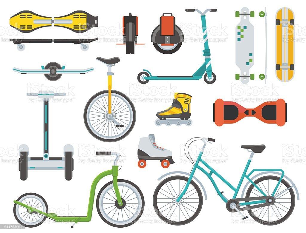 Alternative City Transport vector art illustration