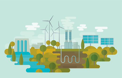 Alternative Clean Energy Stock Illustration - Download Image Now