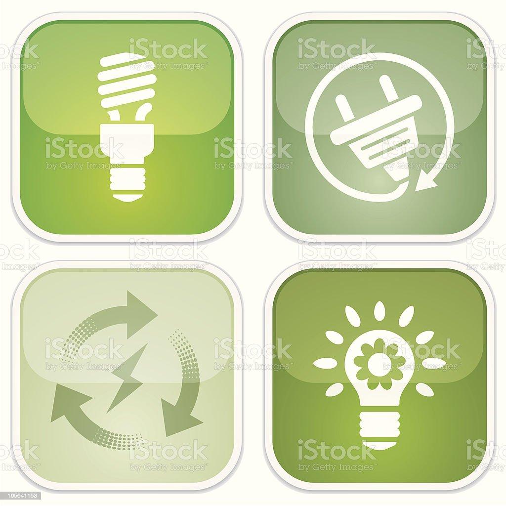 alternative energy - Eco Glossy royalty-free alternative energy eco glossy stock vector art & more images of alternative energy