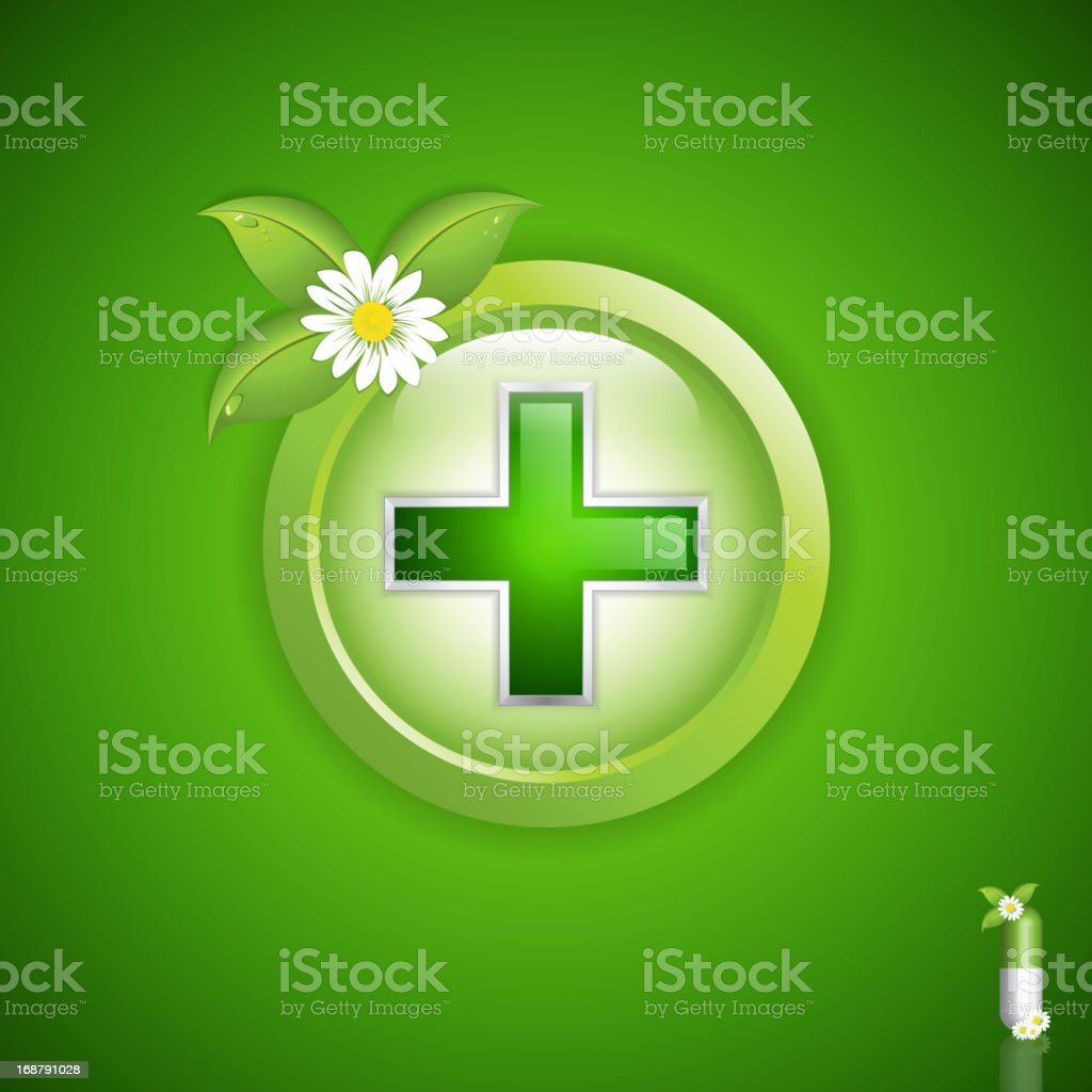 Alternative medication concept royalty-free stock vector art