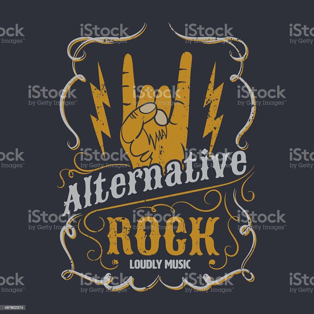Ilustración de Rock Alternativo Gráfico Para Diseño En T