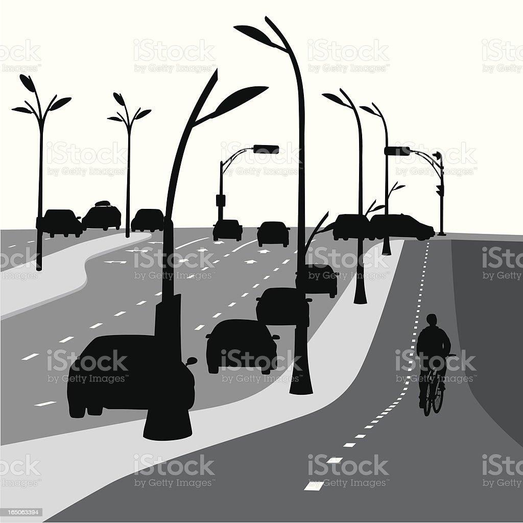 Alternatives Vector Silhouette royalty-free stock vector art