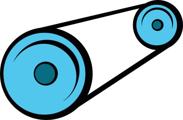 Lichtmaschine Gürtel Symbol Cartoon Stock Vektor Art und mehr Bilder ...