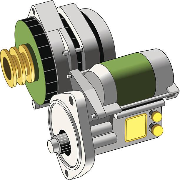 Alternator Starter C vector art illustration