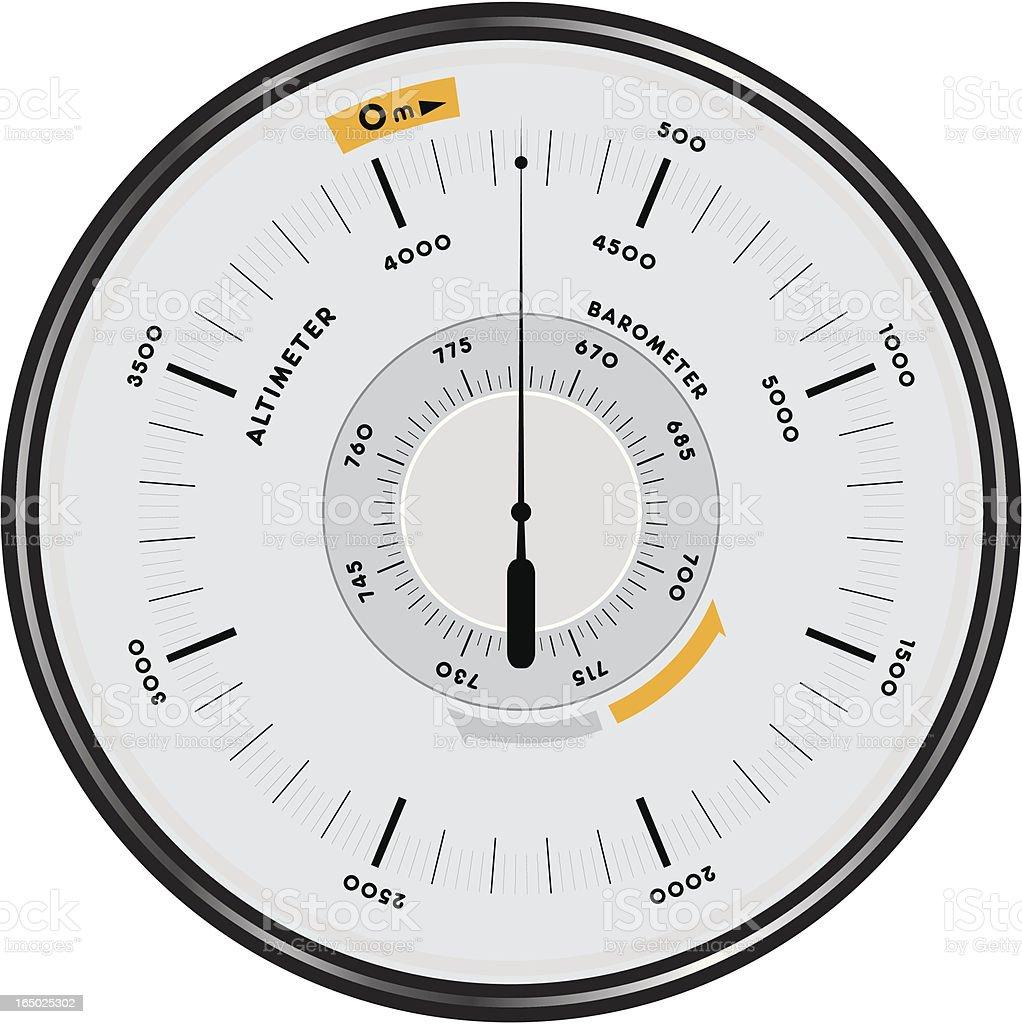 altimeter barometer 1 royalty-free stock vector art