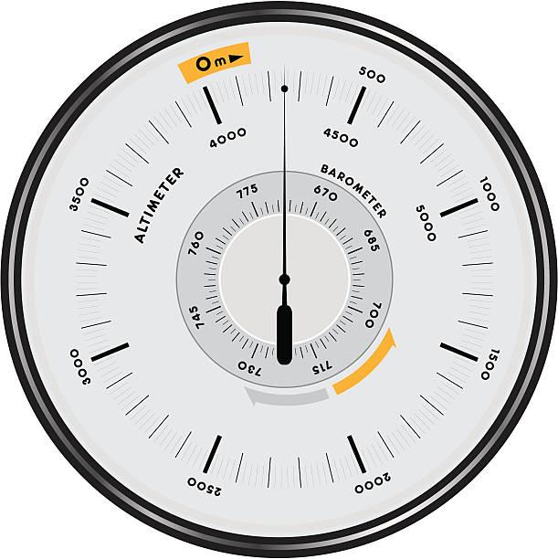 altimeter barometer 1 vector art illustration