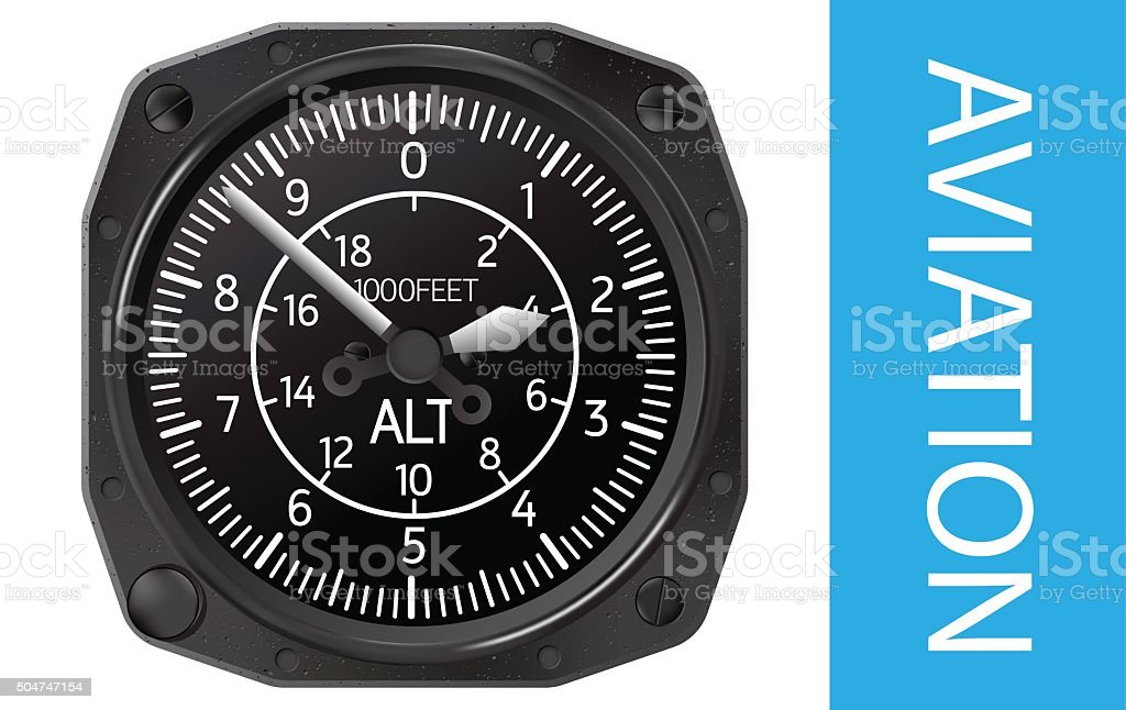 Altimeter vector illustration vector art illustration