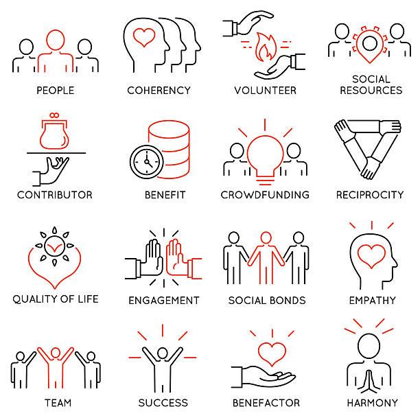 Altruism, Benevolence Icons - part 2 vector art illustration