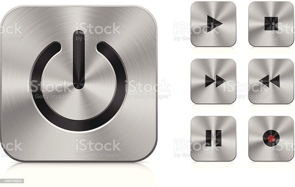 Aluminium buttons (square) royalty-free aluminium buttons stock vector art & more images of abstract