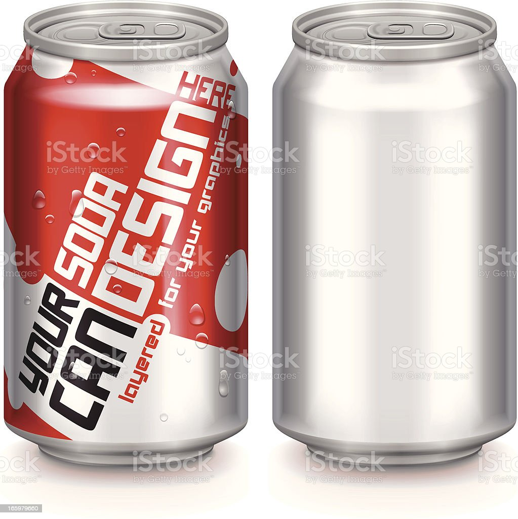 Aluminium Drinks Canvectorkunst illustratie