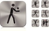 Aluminium icons | People