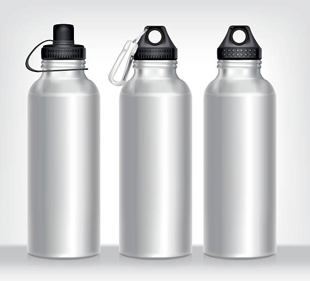アルミ製ボトルの水分離白背景 - ペットボトル点のイラスト素材/クリップアート素材/マンガ素材/アイコン素材