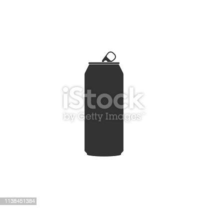 istock Aluminum can icon isolated. Flat design. Vector Illustration 1138451384