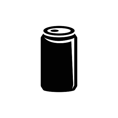 Aluminum Can, Soda Drink, Beer Flat Vector Icon