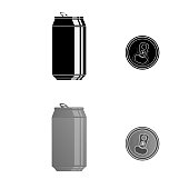 Metal can. Vector illustration