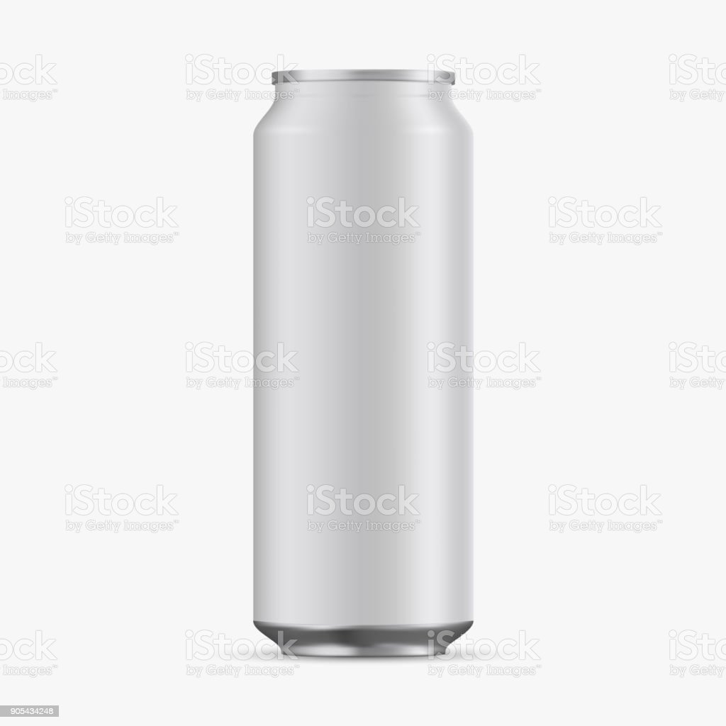 Aluminum Cans Empty 500ml on white background. vector art illustration