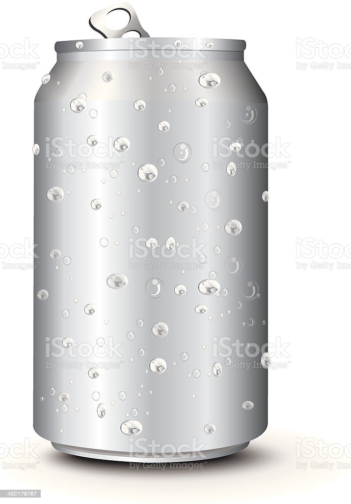 Aluminum Cans Template With Drops Water royalty-free stock vector art