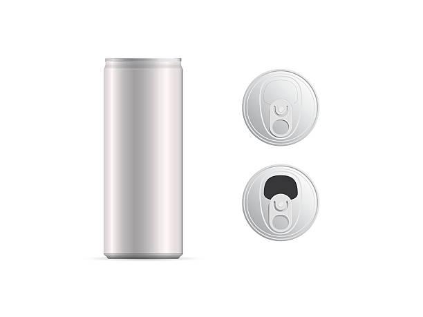 ilustrações de stock, clip art, desenhos animados e ícones de aluminum thin cans and top view, isolated - latão