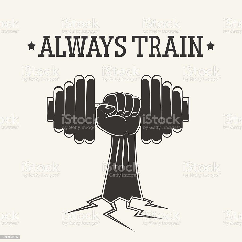 always train vector art illustration
