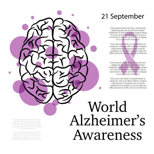 ilustrações de stock, clip art, desenhos animados e ícones de alzheimer awareness background - alzheimer