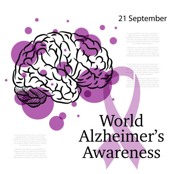 ilustrações de stock, clip art, desenhos animados e ícones de alzheimer awareness day - alzheimer