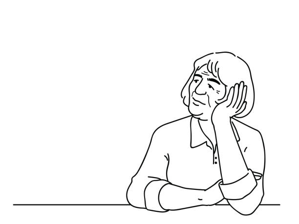ilustrações de stock, clip art, desenhos animados e ícones de alzheimer disease elderly woman - senior woman
