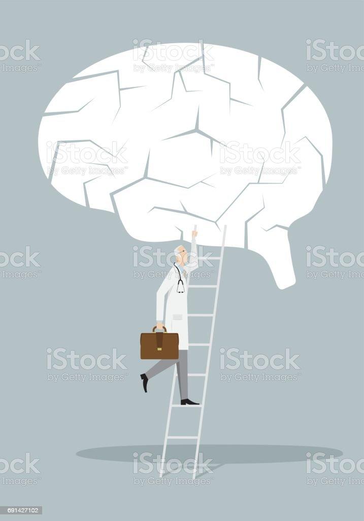 Concept de traitement d'Alzheimer - Illustration vectorielle