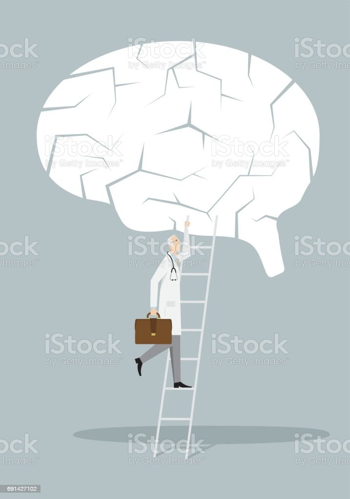 Alzheimer Treatment Concept vector art illustration