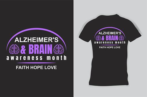 Alzheimer's Brain Awareness Premium T-Shirt
