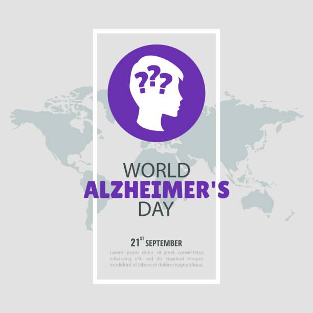 Dia de Alzheimer - ilustração de arte em vetor