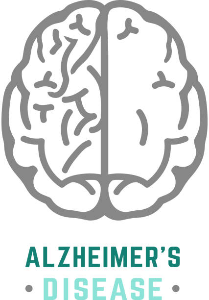Alzheimers Icon vector Vector Alzheimer icon in modern style. Medical editable illustration in gray, blue and green colors isolated on white background. Useful element for logotype, symbol, pictogram and ad graphic design. inconvenience stock illustrations