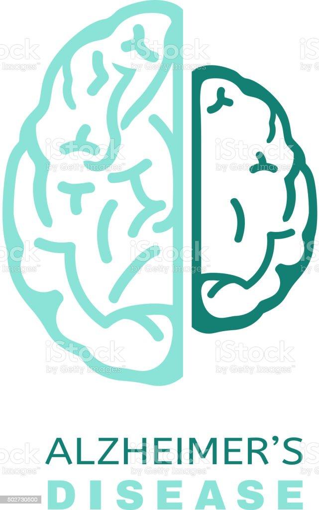 Alzheimers icône VECTEUR - Illustration vectorielle